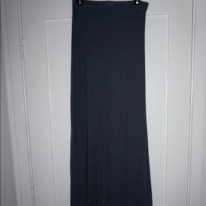 Navy BCBG Ribbed Maxi Skirt